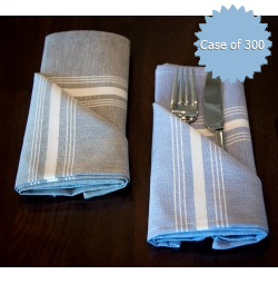 Signature Stripe Chambray Bistro Napkins