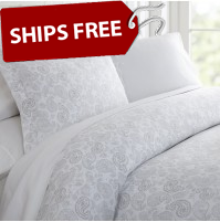 Coarse Paisley Patterned 3-Piece Duvet Cover Set by ienjoy Home®
