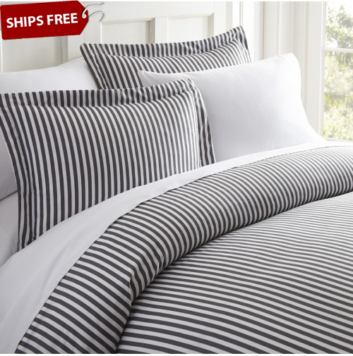 Ribbon Patterned 3-Piece Duvet Cover Set