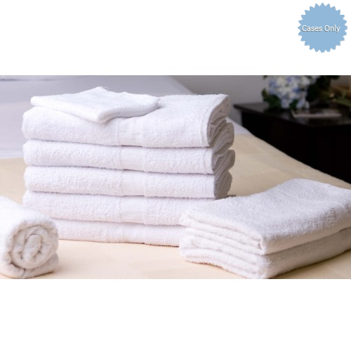 """240 NEW WHITE 100/% COTTON HOTEL BATH TOWELS 24/""""x48/"""" GOOD ABSORBENT"""