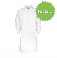 F182 White Medical Cover Up Lab Coat