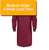 HACCP Knit Cuff Lab Coat, Maroon
