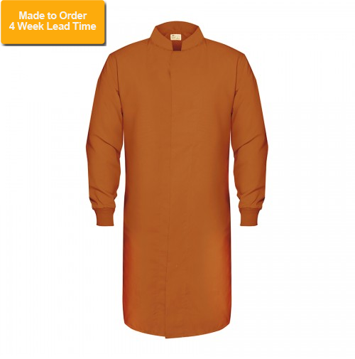 HACCP Knit Cuff Lab Coat, Orange
