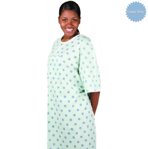 Patient IV Gowns Cypress Compass Print