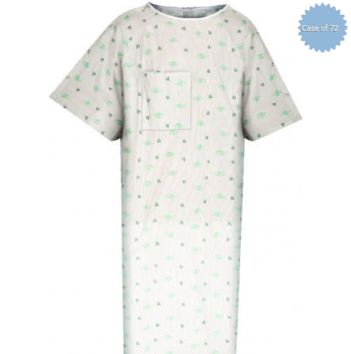 Patient IV Gowns Flower Mound Print