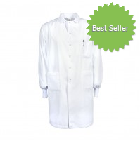 L21M Men's Gripper Snap Lab Coat with Knit Cuffs