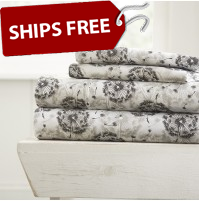 Make A Wish Patterned 4-Piece Sheet Set