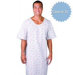 Patient Gowns, Matchstick Print, American Dawn