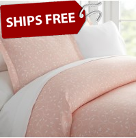 Pink Buds Patterned 3-Piece Duvet Cover Set by ienjoy Home®