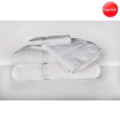 RSVP White Towel Collection, Dobby Border