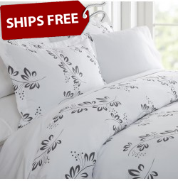 Simple Vine Patterned 3-Piece Duvet Cover Set by ienjoy Home®