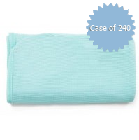 Waffle Knit Baby Blankets, Turquoise