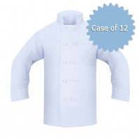 Chef Coat, 100% Poly, Knotted Buttons, 2 Pockets