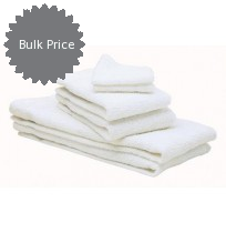 Closeout Irregular White Economy Towels